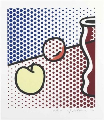 Siebdruck Lichtenstein - Still Life with Red Jar