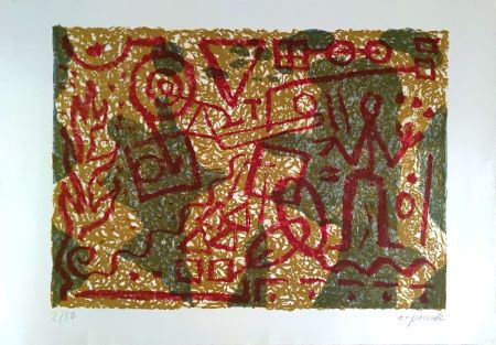 Lithographie Penck - Stones and Shadows