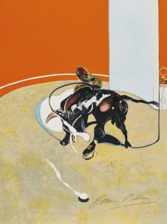 Lithographie Bacon - Study for bullfight, n° 3