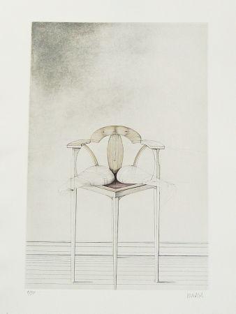 Radierung Wunderlich - Stuhl-Metamorphose