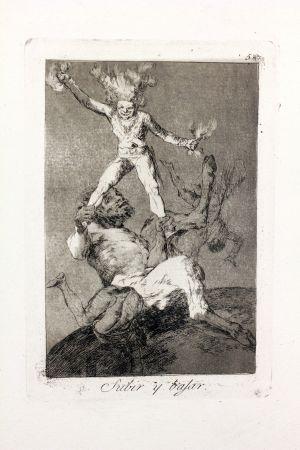 Radierung Und Aquatinta Goya - Subir Y Bajar