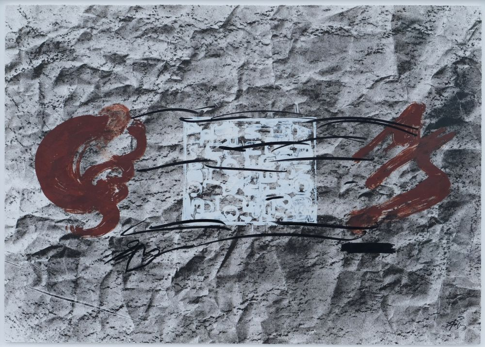 Lithographie Tapies - Suite 63 X 90 (No 10)