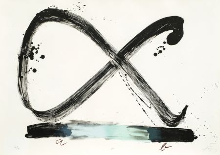 Lithographie Tapies - Suite 63 x 90 (No 5)