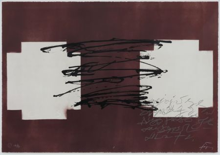 Lithographie Tapies - Suite 63 x 90 (No 8)