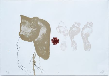 Lithographie Tapies - Suite 63 x 90 (No 9)