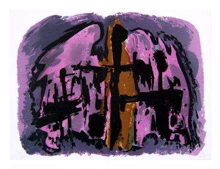 Lithographie Manessier - Suite de Pâques