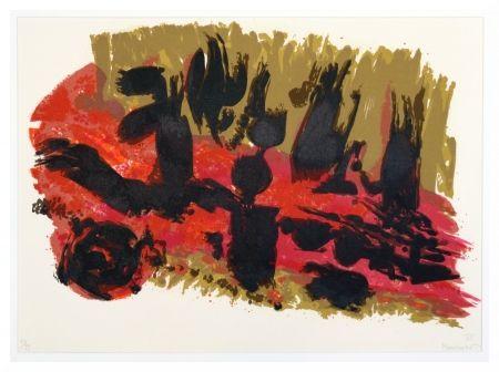 Lithographie Manessier - Suite de Pâques - Les Saintes femmes