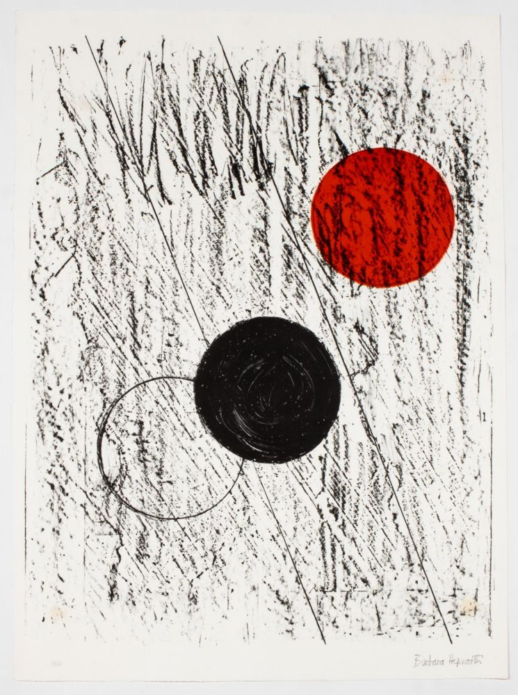 Lithographie Hepworth - Sun and Moon