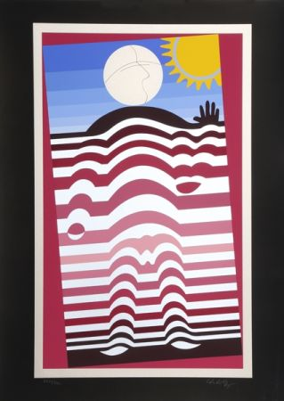 Siebdruck Vasarely - Sunbather