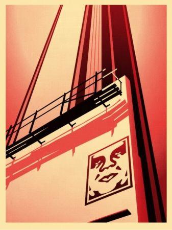 Siebdruck Fairey - Sunset & Vine Billboard