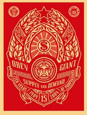 Siebdruck Fairey - Supply and Demand (Red)