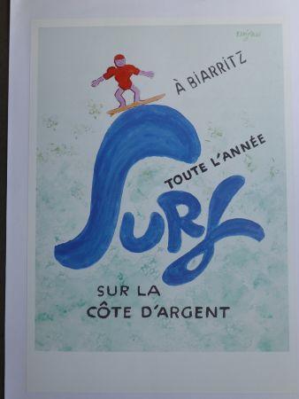 Plakat Savignac - Surf à Biarritz toute l'année sur la côte d'argent