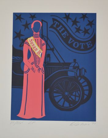 Lithographie Indiana - Susan B. Anthony - Mother of us all portfolio