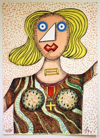 Lithographie Baj - Swedish Lady