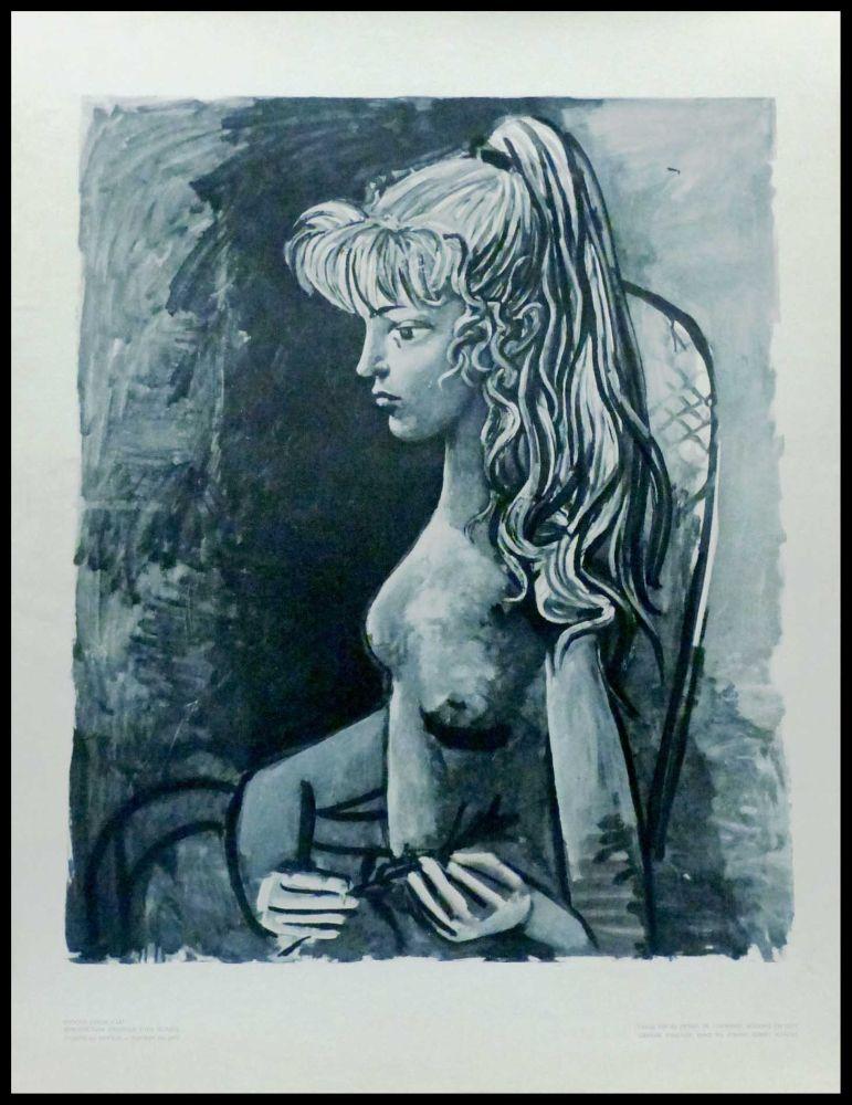 Lithographie Picasso (After) - SYLVETTE AU FAUTEUIL