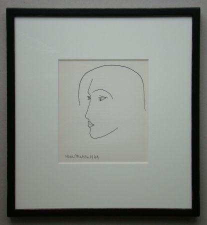Lithographie Matisse - Tête, 1949