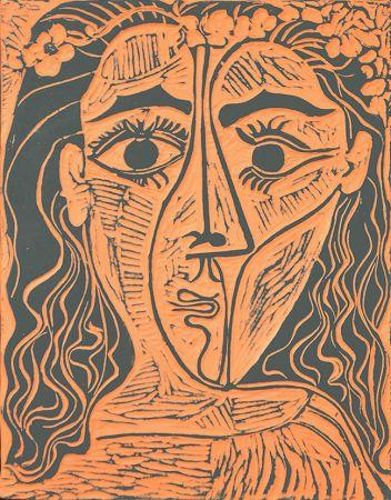 Keramik Picasso - Tête de femme à la couronne de fleurs (Woman's Head with Crown of Flowers), 1964