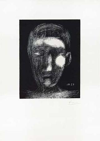 Linolschnitt Picasso - Tête De Garçon