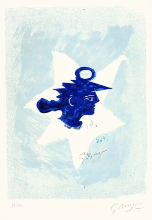 Lithographie Braque - Tête grecque (Grecian Head)