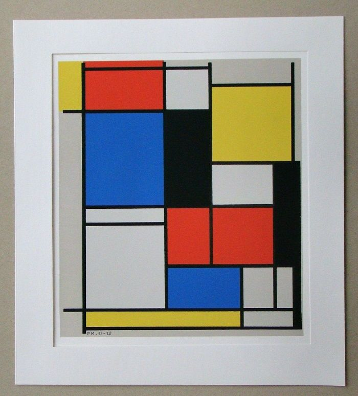 Siebdruck Mondrian - Tableau II. - 1921/25