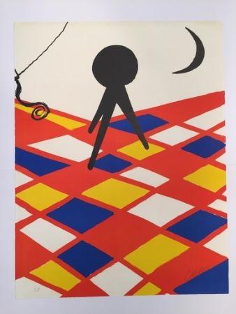 Lithographie Calder - Tabouret à trois pieds