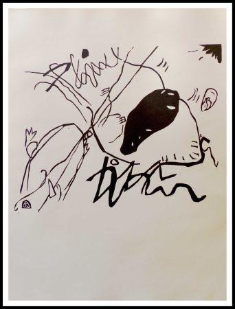 Holzschnitt Kandinsky - TACHE NOIRE