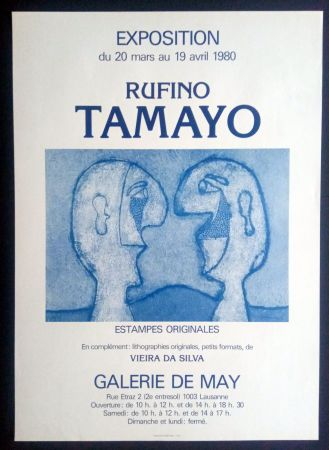 Plakat Tamayo - Tamayo - Estampes Originales - Galerie de May 1980