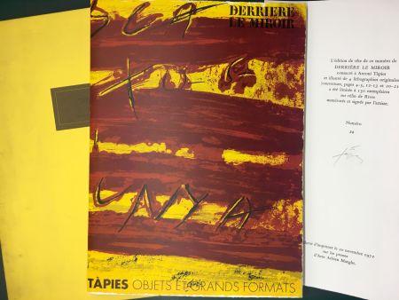 Illustriertes Buch Tàpies - TAPIES : Objets et grands formats. DERRIÈRE LE MIROIR N° 200. 1972 - DE LUXE SIGNÉ.