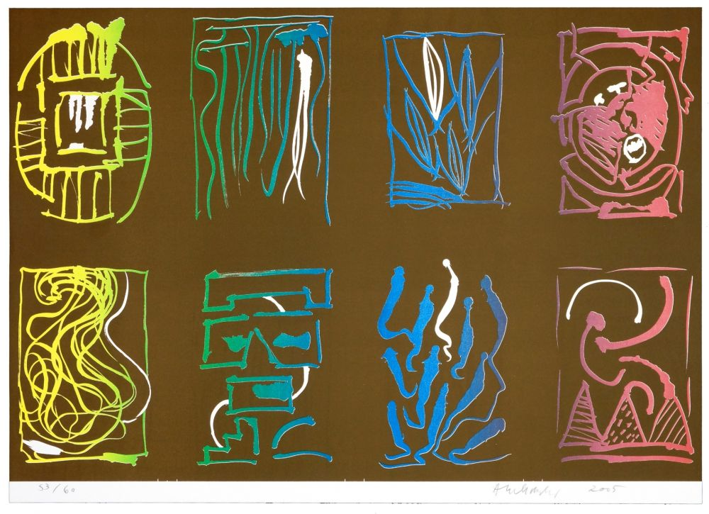 Lithographie Alechinsky - Tapis et Caries