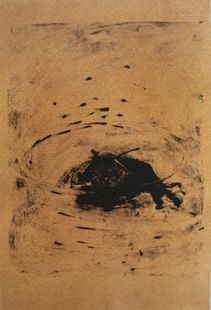 Lithographie Barcelo - Taureau