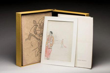 Illustriertes Buch Cocteau - Taureaux