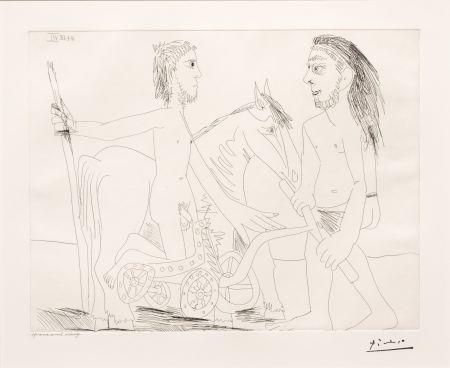 Stich Picasso - Television: Combat de Chars a l'Antique