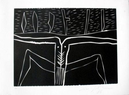 Linolschnitt Paladino - Terra tonda africana 4