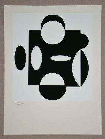 Siebdruck Vasarely - Terreur