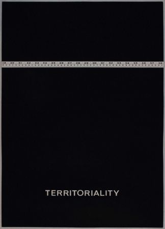 Lithographie Agnetti - Territoriality from 'Spazio perduto e spazio costruito' portfolio, Plate H