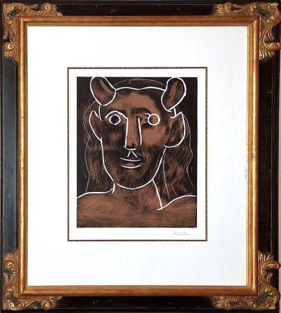 Linolschnitt Picasso - Tete De Faune (B. 1094)