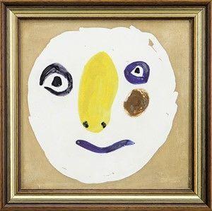 Keramik Picasso - Tete Polychrome