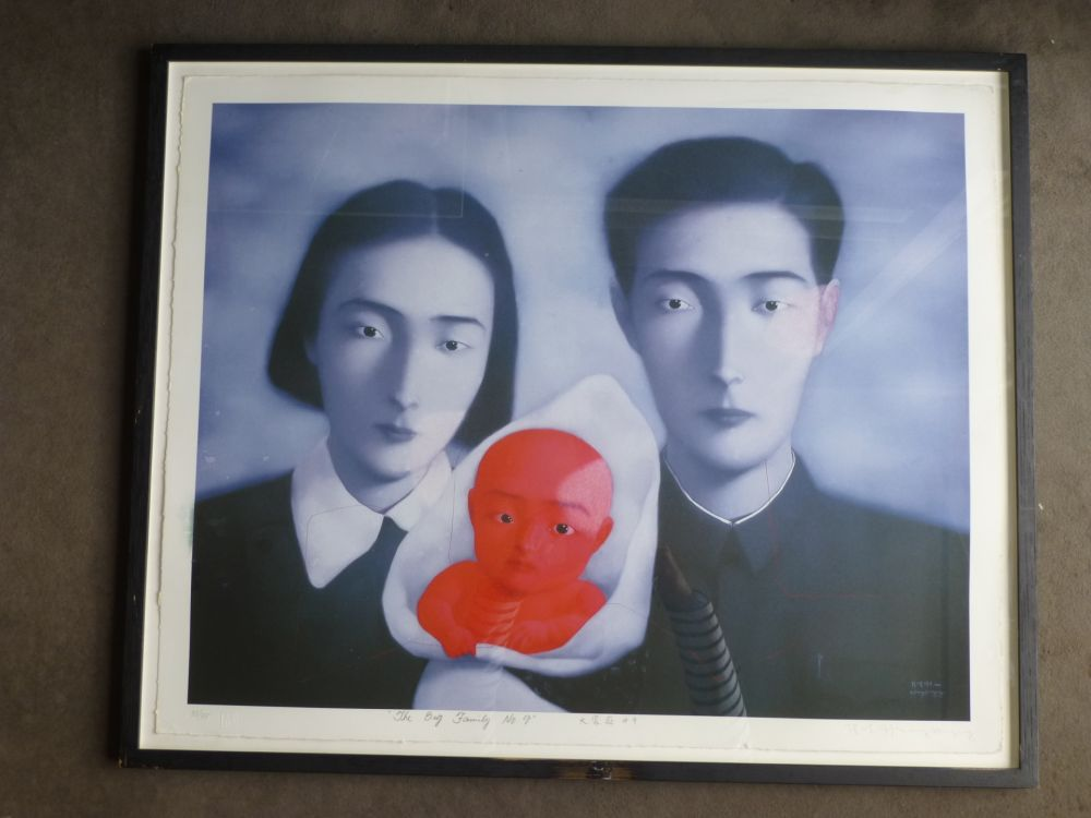 Lithographie Zhang - The big family number 9