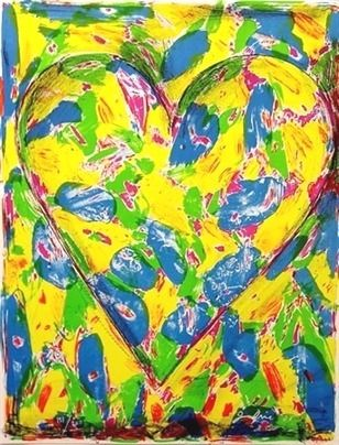 Lithographie Dine - The Blue Heart