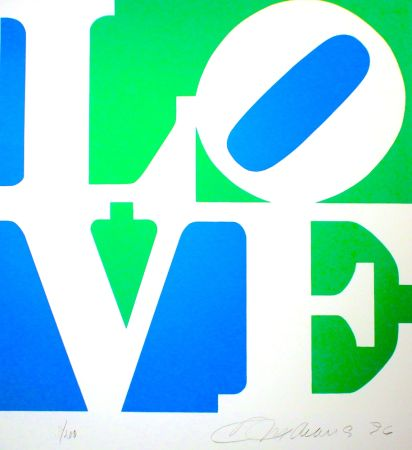 Lithographie Indiana - The Book of Love #8 (green/blue)