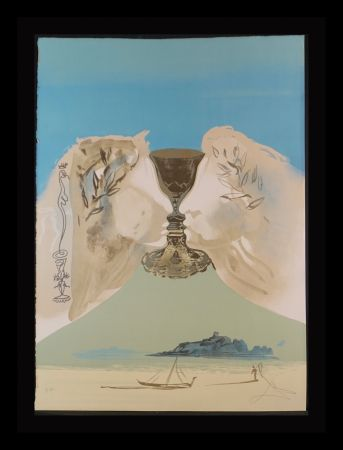 Lithographie Dali - The Chalice of Love
