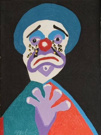 Radierung Und Aquatinta Appel - The clown with the golden tears