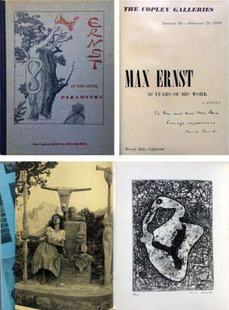 Radierung Ernst - The Copley Galleries. At Eye Level. Paramyths. Max Ernst, 30 years of his work.