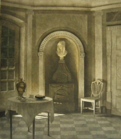 Mezzotinto Ilsted - The Dining Room At Liselund