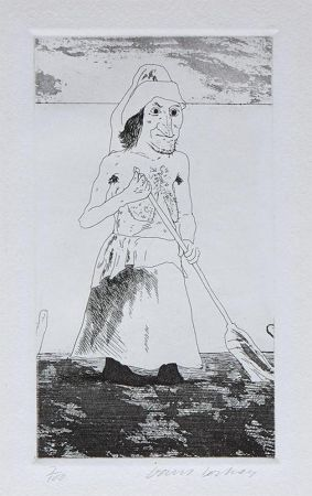 Stich Hockney - The Enchantress in Her Garden