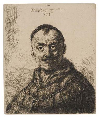 Stich Rembrandt - The First Oriental Head