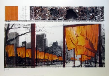 Lithographie Christo & Jeanne-Claude - The Gates, Project for Central Park, New York