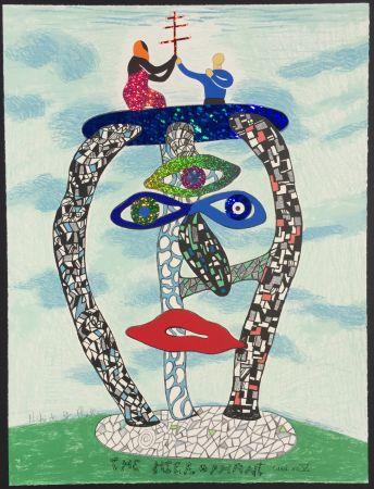 Lithographie De Saint Phalle - The Hierophant