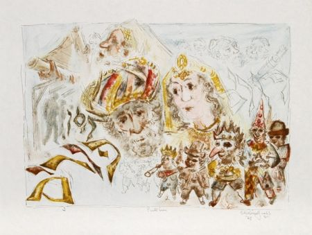 Lithographie Gross - The Jewish Holidays. A Suite of Eleven Original Lithographs by Chaim Gross