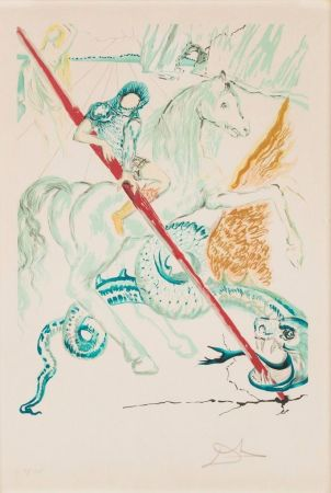Lithographie Dali - The Lance Of Chivalry